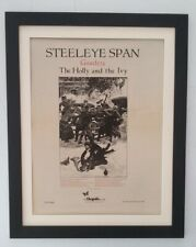 STEELEYE SPAN*Gaudete*1972*RARE*ORIGINAL*POSTER*AD*QUALITY FRAMED*FAST SHIPPING