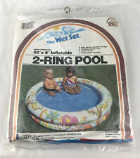 New listing Vintage Intex The Wet Set 2 Ring Pool 50� X 9� 59420 Nos 1983 Zoo Animals
