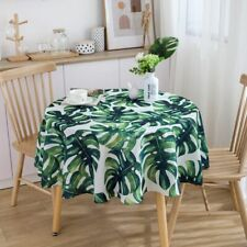 Tropical Plant Pattern Table Cloth Round Tablecloth Banquet Party Home Decor