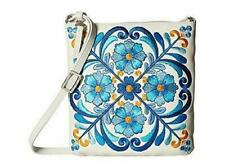 Brighton CASABLANCA GARDEN NWT $190 Embroidered Leather Pouch Crossbody Handbag