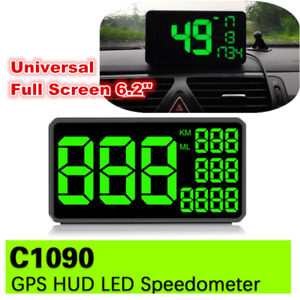 6.2'' LED Car HUD Head Up Display KM/h Over Speed Warning GPS Speedometer