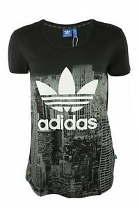 P1,495 Adidas Originals Skyline Tee M69818 City Print Black 34 (UK 8) Small