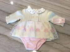 BABY GRAND Ivory & Pink Baby Dressy Dress. Size 3-6 Months. NEW.
