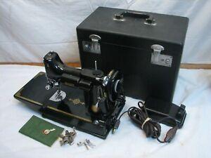 Singer Featherweight Sewing Machine 1950 221 - 1 Portable Anniversary Centennial