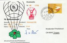 284388 / Flugpost Beleg Ballonpost Schweiz