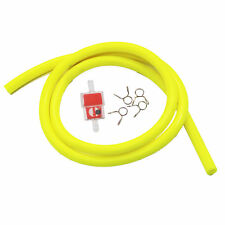 YELLOW HIGH QUALITY  1M RACING PETROL HOSE FUEL LINE  QUAD DIRT BIKE