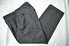 Ermenegildo Zegna Dark Gray 100% Worsted Wool Dress Pleat Trousers Size: 36x30