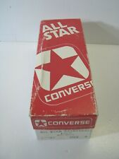 Vintage CONVERSE ALL STAR BASKETBALL Empty Shoe Box RED/WHITE Blue Canvas BOYS