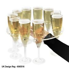Champagne Flute Serving Tray - Holds 10 Flutes - Acrylic - Party - Wedding