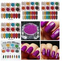 Nail Glitter Mirror Powder Chrome Uv Gel Art Set Powders Mix Pigments 8 Colors