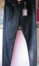 ae409d65927fe Ted Baker Dark Blue Embellished Panel Jeans Size 30 (12) With Tags