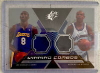 KOBE BRYANT JERSEY CARD - WINNING COMBOS DUAL GAME USED JERSEY