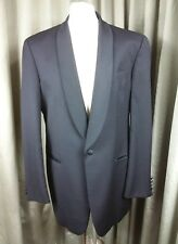 Louis Feraud Wool Black Dinner Evening Shawl Collar Suit C44 W38 L33.5