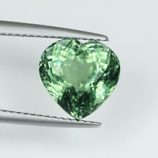 "5.11 AIG Certified"" RARE SOFT GREEN NATURAL PARAIBA TOURMALINE * Heart - See Vdo"