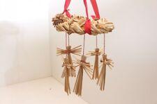 2 anneaux de paille couronne à suspendre avec anges Décoration Noël Déco