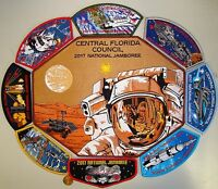CENTRAL FLORIDA OA 326 TIPISA 2017 JAMBOREE NASA STAFF DELEGATE FLAP 9-PATCH SET