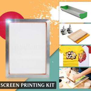 Screen Printing Kit (Aluminum Frame + Hinge Clamp + Emulsion Coater + Squeegee)