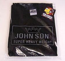 BLACK JohnSon Heavy Weight Cotton 2XL TALL Crew Neck T-Shirt Piranha Records
