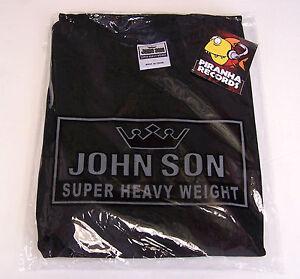 BLACK JohnSon Heavy Weight Cotton 7XL Crew Neck T-Shirt Piranha Records
