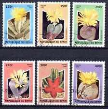 Flore - Cactus Bénin (10) série complète de 6 timbres oblitérés