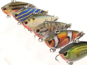Lipless Fishing Lures Crankbait Bass Sinking Tight Wobble Lifelike HL540KB