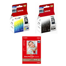 Canon PG-810XL and CL-811XL Ink Cartridges (2pcs) + 4R Photo Paper (20 Sheets)