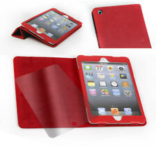 NEW CASE COVER+SCREEN PROTECTOR STAND POLYURETHANE LEATHER RED APPLE IPAD MINI