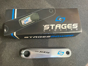 Stages Power Meter Shimano 105 R7000. Silver 165 mm Left Crank Arm Only