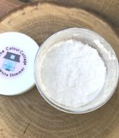Mica Powder 1/2 oz Jar Star White Shimmer Pigment for Epoxy Resin, Cosmetics
