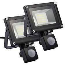 2X 20W LED Flutlicht Fluter Außen mit PIR Bewegungsmelder Gartenlampe Strahler