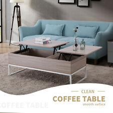 Natural Wood Lift Top Storage Coffee End Table Storage Space Living Room