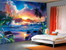 Wall mural photo wallpaper Fantasy Tropical Scenery palms | glue not included