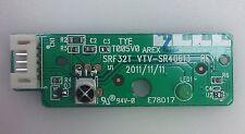 Toshiba 40E220U IR Sensor Board 75028870 (SRF32T, VTV-SR40613, 454C3C51L01)