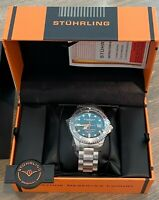 Stuhrling 883H04 Depthmaster 42mm Heritage Swiss Automatic Men's Diver Watch