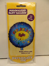 """Personalized Party Baloon 18"""" Foil Design   Name Kylie  ***New in Pack***"""