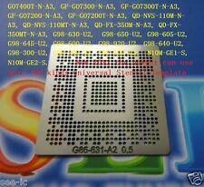 Stencil Template G86-630-A2 G98-600-U2 N10M-GE2-S GO7400110MT 350m/110m go7400t