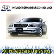 HYUNDAI GRANDEUR XG 1998-2005 SERVICE REPAIR MANUAL ~ DVD