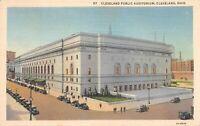 Cleveland Public Auditorium, Cleveland Ohio Vintage Postcard A01