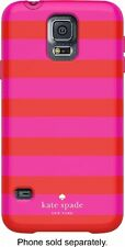 AUTHENTIC Kate Spade Pink/Red Hybrid Hardshell Case For Samsung Galaxy S5 BIN 40