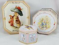 Vintage 3 Beatrix Potter Candy Tins '97, sealed. Peter Rabbit, Benjamin Bunny