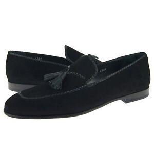 Corrente 4629 Ante Borla Mocasines, Hombre Zapatos sin Cordones, Negro