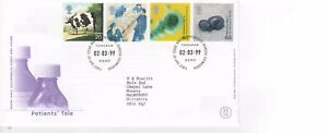 PATIENTS' TALE FIRST DAY COVER 2.3.1999     POST FREE UK