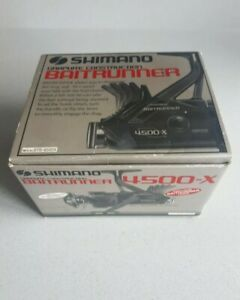 SHIMANO BAITRUNNER 4500 X RARE CLASSIC REEL. BOXED, INSTRUCTIONS & SPARE SPOOL.