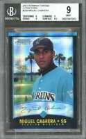 Miguel Cabrera Card 2001 Bowman Chrome X-Fractors #259 Marlins BGS 9 (9 9 9 8.5)