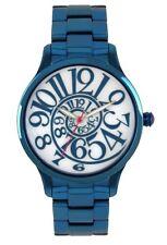 BETSEY JOHNSON BJ00040-20 Women's Blue Stainless Steel Bracelet Watch NEW**