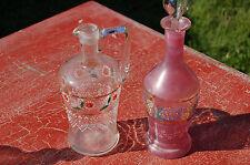 Karaffe aus Glas emailliert 22 cm und 18 cm C24