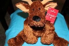 new hallmark Comet Reindeer stuffed metallic brown Bell ears