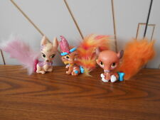PALACE PETS GLITTER 3 animal toy figures DISNEY PRINCESS Bip Toys SULTAN/POUNCE