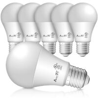 A19 LED Light Bulbs- 6 Pack Efficient 9W(60W Equivalent) 830 Lumens UL Listed