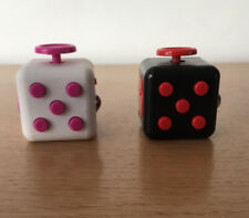 2 x Fidget Cubes - Black/Red & White/Pink - Used
